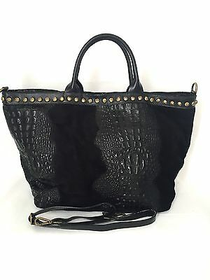 Scamosciato Vera Handbag Maxi Shopper Borsa Donna Pelle Leather g78Aqn4