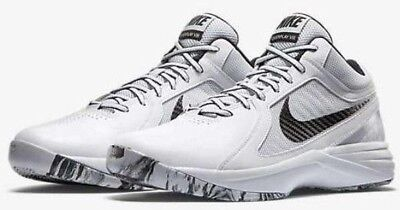 6bed973ad727 Nike The Overplay VIII Mens Basketball Shoes White Black 637382 107 Fly  Athletic