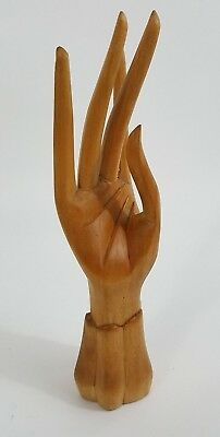 Bali Indonesia Vintage Wood Carved Hand of Mudra Abhayamurdra Buddha