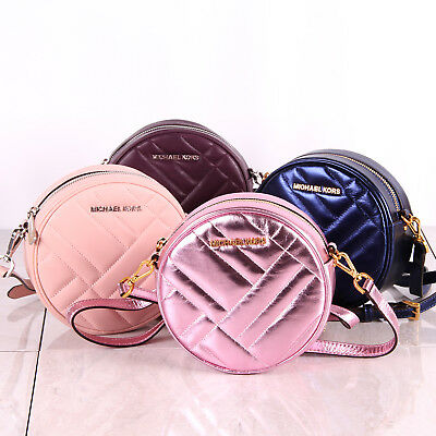 5324f60ac8ee64 NWT Michael Kors VIVIANNE CANTEEN Crossbody Quilted Leather Bag - Various  Colors