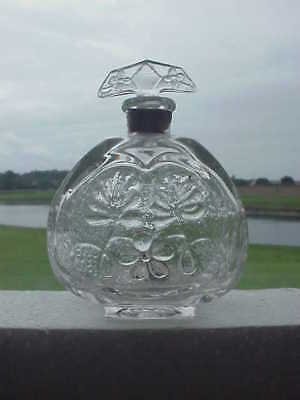 Heavily Embossed Perfume Bottle With Original Stopper