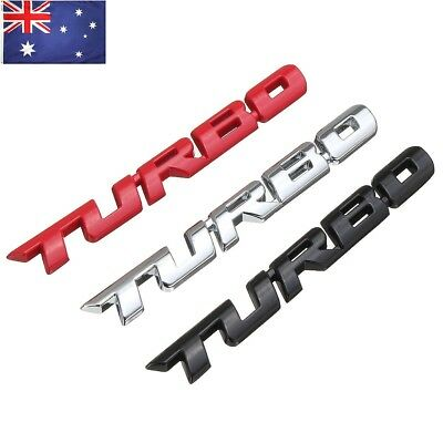 Cool 3D Alloy Metal Letter Turbo Car Motorcycle Emblem Badge Sticker Decal Decor