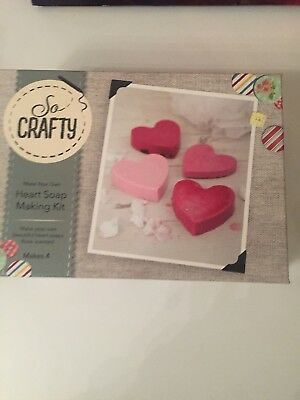 Heart Soap Making Kit By So Crafty Rose Scent Handmade Craft New Great Gift