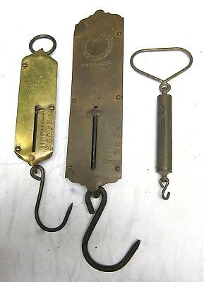 Vintage Old Brass Spring Scales One Landers, &  Two Chatillions  Nice