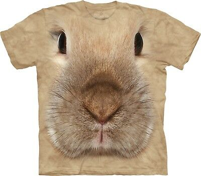 Bunny Face Rabbit T Shirt Adult Unisex The Mountain