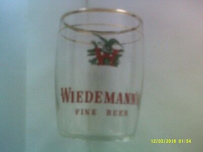 Wiedemann's Beer Barrel Glass
