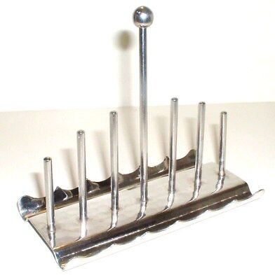 Superb Vintage Modernist Old Hall Stainless Steel Toast Rack Robert Welch NO RES