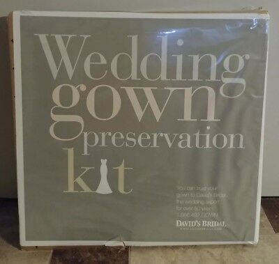 Davids Bridal Wedding Dress Gown Preservation Kit New in Box $189 Retail