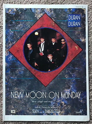 DURAN DURAN - NEW MOON ON MONDAY 1984 Full page UK magazine ad