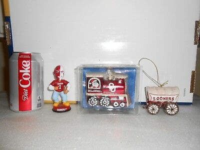 University of Oklahoma OU  Christmas ornaments LOT