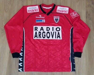 Aarau Switzerland 2000 - 2001 #22 Romano vintage match worn home shirt size XL