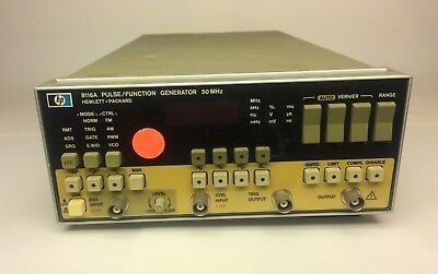 HP 8116A Pulse/Function Generator, 50 MHz