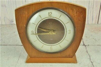 Smiths 8 Day Mantle Clock - Vintage Retro 1950's 1960's Collectible WORKING