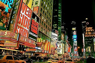 """Aloha Pictures By Alan Schoenauer Photographie D'art """" Broadway Time Square Ny """""""