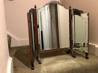 Antique Folding Dressing Table Mirror