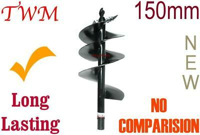 Auger for Post hole Digger 150 x 780mm = Removable cutter type = Low maintenance