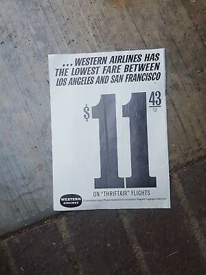 1963 Print ad-Local LA-Western Airlines-Los Angeles & San Francisco-Thriftair