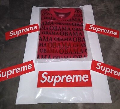 630ca210 SUPREME OBAMA JACQUARD S/S Top | Men's T-Shirts | Red | Small ...