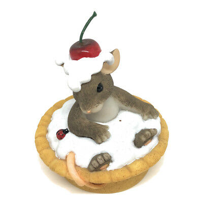 Charming Tails Sweetie Pie Mouse Decor Decoration Figurine Cherry Whipped Cream