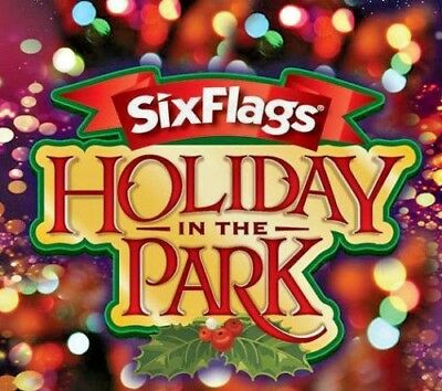Six Flags SINGLE Day Gen Admission Ticket ~ Holiday In The Park