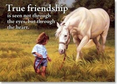 Leanin' Tree True Friendship Horse and Child Magnet