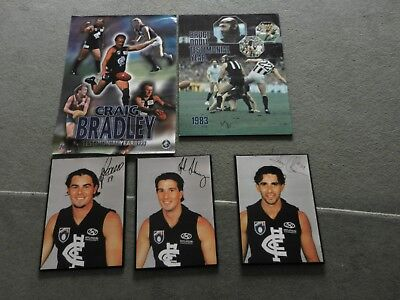 Carlton Posters, Includes Bruce Doull(1983) And Craig Bradley Testimonial(1999)