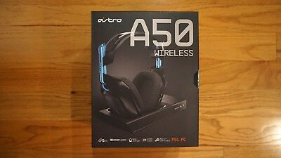 Astro Gaming A50 Wireless Dolby 7.1 Gaming Headset PS4 & PC (Black/Blue) - New