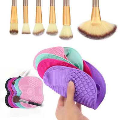 Silicone Cosmetics Makeup Brush Cleaner Lavaggio Scrubber Mat Pad