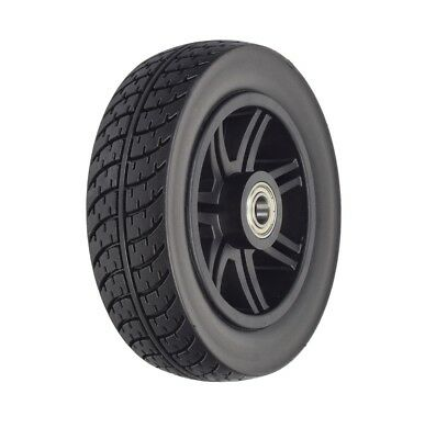 """8""""x2"""" (200x50) Black Flat-Fre Wheel Drive Medical Spitfire Scout 4-Wheel Scooter"""