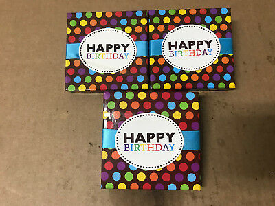 Gift Card Holder Box With Ribbon Happy Birthday Pack Of 3
