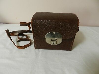 Vintage Brownie Leather  Carry Case Made In England