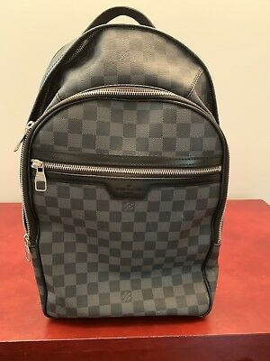 760c6d37cee7 Louis Vuitton Damier Graphite Michael Men s Backpack Damier Authentic