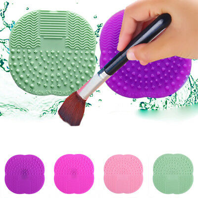 Cleaning Cosmetic Makeup Brush Cleaner Cleanser Mat Pad Scrubber Tool New AU