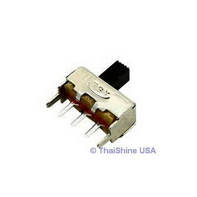 10 x Slide Switch 1P2T Through Hole 0.5A 50VDC - USA Seller - Free Shipping