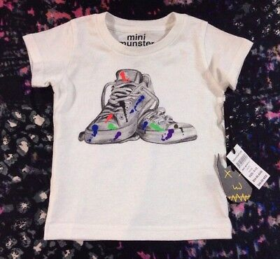 Mini Munster Baby Boys T Shirt Size 6-12 Months New
