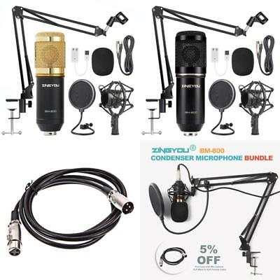 Condenser Microphone Bundle Mic Kit with Adjustable MicSuspension Scissor Arm