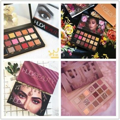 HUDA BEAUTY Dessert Dusk/Rose Gold Remastered/New Nude Eye Shadow Palette Makeup
