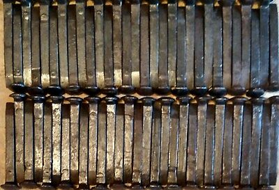 "60 Vintage Railroad Spikes, 6 1/2"" Straight, Wire Brushed, Oiled (NICE)"