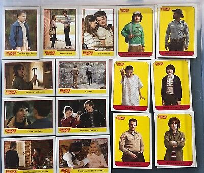 Topps Stranger Things season 1 trading cards COMPLETE BASE CARD SET & Stickers