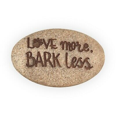 Love More Bark Less Pawsitive Pocket Stone by Angel Star