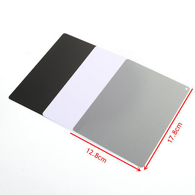 3in1 18% White Balance Grey Card Large Photo Photography Exposure Strap
