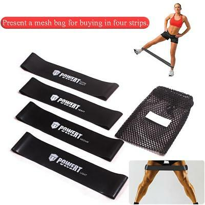 Elastic Resistance Loop Bands Yoga Exercise Gym Fitness Workout Stretch Physiolo