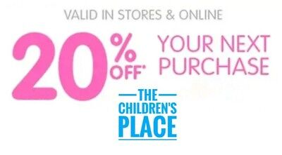 Children's Place 20% Coupon Code In Stores & Online Exp 12/31 Fast Fast Delivery