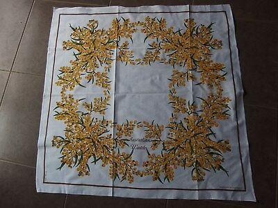Vintage Supper Tablecloth, Center Table...australian Wattle...all Cotton