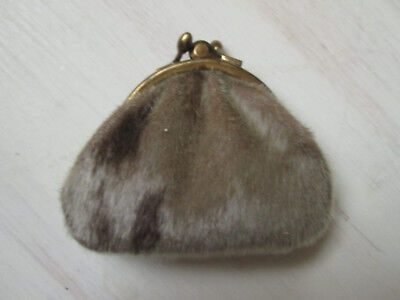 Vintage Reindeer Skin Small Purse from Scandinavia Finland