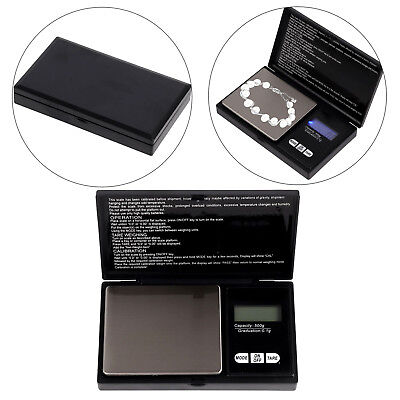 Pocket Digital Scales Jewellery Gold Weighing Mini LCD Electronic 0.1g-500 Grams