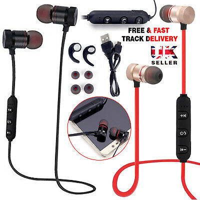New Wireless Bluetooth Sports In-Ear Earphones Stereo Headphones Headsets W/ Mic