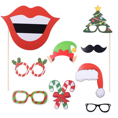 Photo Booth Weihnachten.32tlg Photo Booth Requisiten Weihnachten Lustige Foto Accessoires