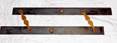 Antique Vintage Ebony and Brass NAVIGATION PARALLEL RULE Circ 19th Century