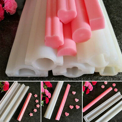 Soap Mold Mould Templet Tool Various Shape Silicone DIY Round Tube Column Candle